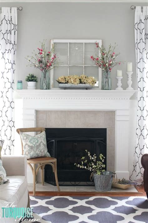 Hang Tv Above Brick Fireplace by Decorating Your Mantelpiece For Spring