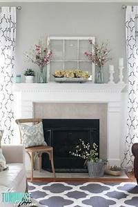 good looking mantel decoration ideas Decorating Your Mantelpiece for Spring