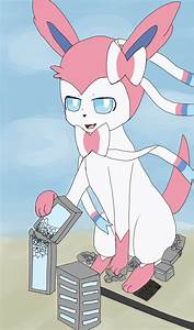 Sylveon Uses Play Rough Colored by Billyblue999 on DeviantArt