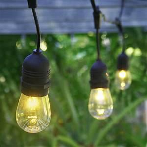 24 socket outdoor commercial string light s14 bulbs 54 ft With outdoor string lights with black cord