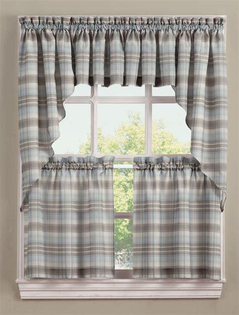 Kitchen Drapes And Curtains - dawson kitchen curtains blue lichtenberg jabot