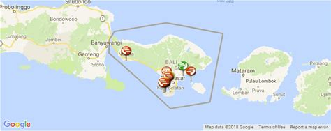 bali tourist attractions map  bali indonesia holiday