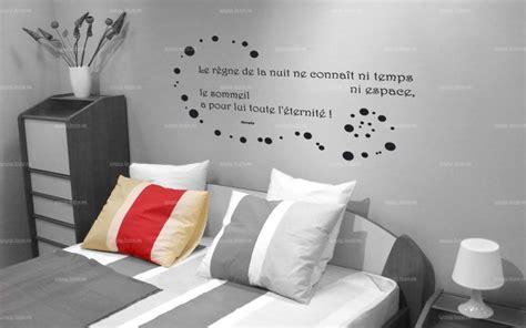 stickers phrase chambre adulte sticker citation le règne de la nuit le sommeil a