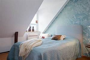 Peinture Murale Blanche : d co mur d accent papier peint bleu motifs floraux ~ Nature-et-papiers.com Idées de Décoration