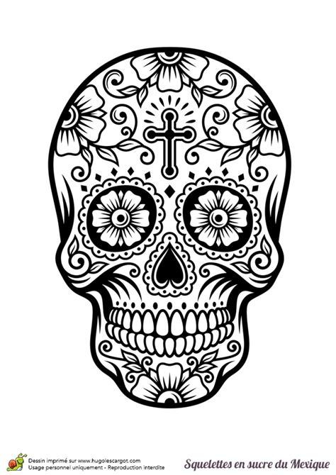 dessin tete de mort mexicaine coloriage cr 226 ne en sucre mexicain fleurs