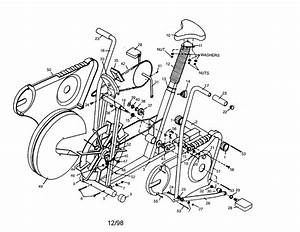 Exercise Bike Parts  U2013 Frame  Drive And Flywheel Parts