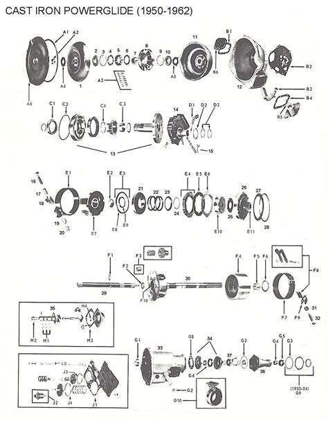 Powerglide Transmission Diagram by Ford C4 Transmission Parts Diagram Wiring Diagram Fuse Box