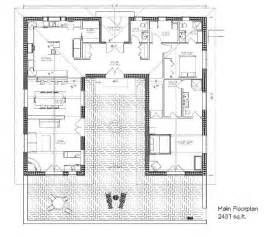 Style Home Plans With Courtyard Hacienda Style House Plans 4 Hacienda House Plans With Courtyard Smalltowndjs