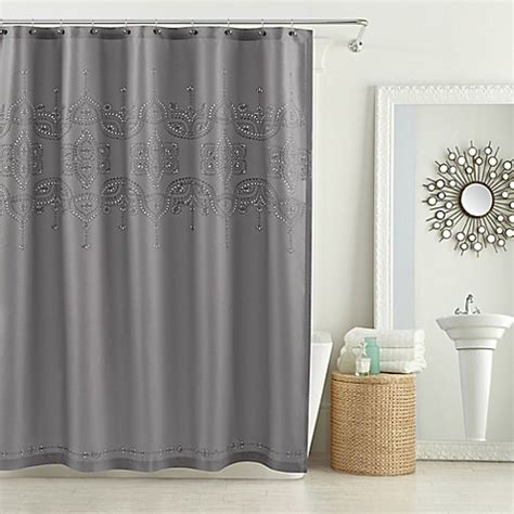 84 inch shower curtain buy anthology scarlet 72 inch x 84 inch shower curtain in