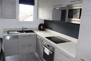 Modele cuisine appartement cuisine en image for Cuisine avec salle a manger intégrée pour petite cuisine Équipée