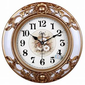 Decorative, Large, Country, Wall, Clocks, Modern, Silent, Rustic, White, Brown