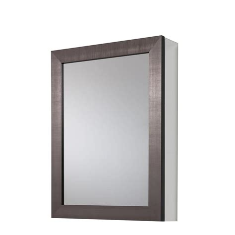 glacier bay bathroom cabinets glacier bay 20 in x 26 in framed aluminum recessed or