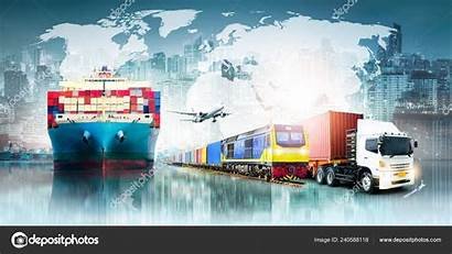 Logistics Export Import Global Transport Container Freight