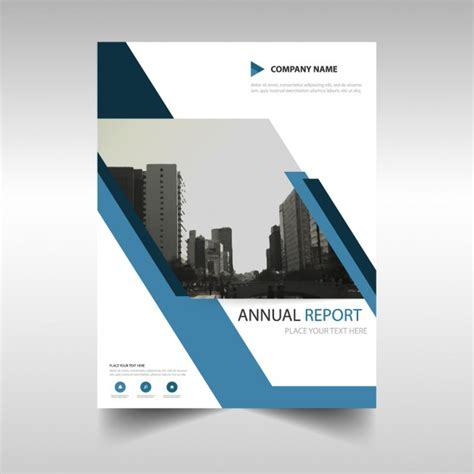free annual report annual report cover in abstract design vector free