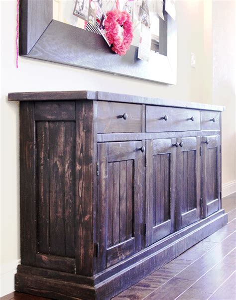 Diy Sideboard by White Rustic Sideboard Buffet Table Diy Projects