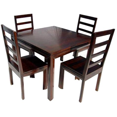 Solid Wood Transitional Dining Table And Chairs Set