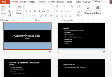 company project meeting powerpoint template