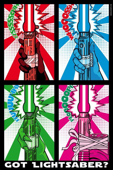 Star Wars Pop Art Lightsaber