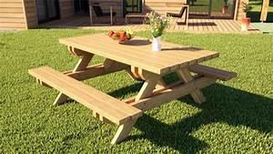 Table Exterieur En Bois : devis imm diat table d ext rieur en bois petite maison bois ~ Teatrodelosmanantiales.com Idées de Décoration