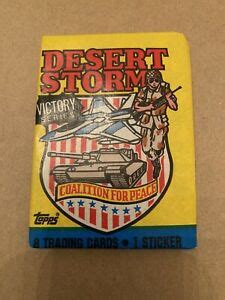 Trading card producer topps company inc. Unopened Topps Desert Storm Trading Cards Victory Series | eBay