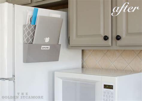 kitchen counter organizer mail kitchen clutter organized the golden sycamore 6637