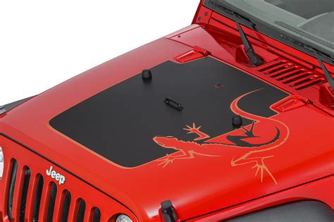 jeep hood decals mopar 174 68139718ab quot lizard quot hood decal for 07 12 jeep