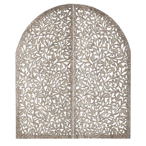 miroir chambre fille tête de lit 140 en bois sculpté indore maisons du monde