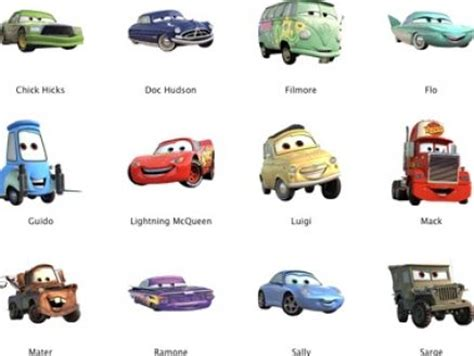 cars characters cars 2 characters list names and pictures car interior