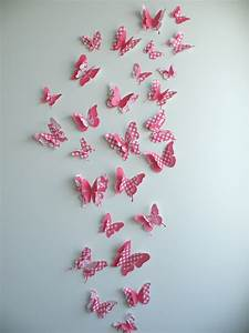 3d butterfly wall decor quotcherryquot set felt With butterfly wall decor
