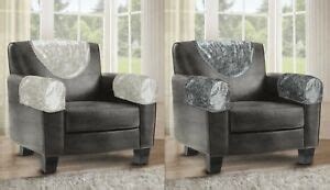 luxury crushed lace velvet arm cap chair  covers