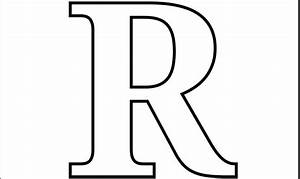 printable pdf letter r coloring page or print out on With giant letter r