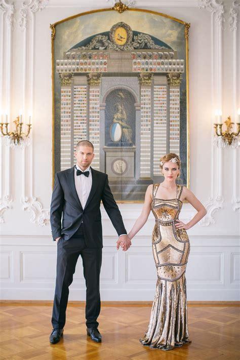Peach + Gold Luxury Wedding Inspiration Art deco wedding