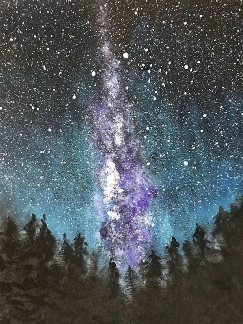 Milky Way Original Painting Starry Sky Lights