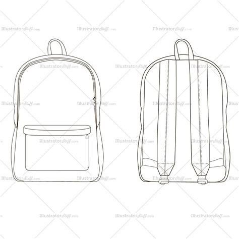 backpack template backpack fashion flat template illustrator stuff