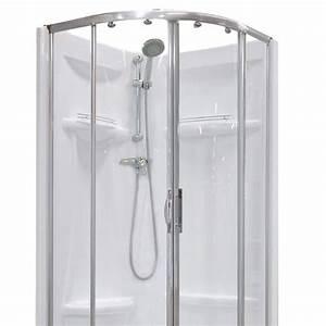 cabine de douche 1 4 de cercle 90x90 cm dana leroy merlin With porte douche 1 4 cercle