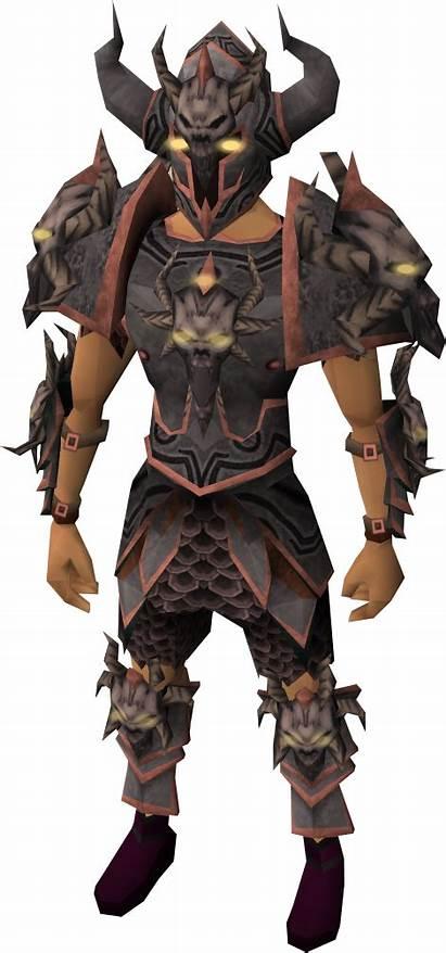 Malevolent Armour Runescape Wikia Equipped