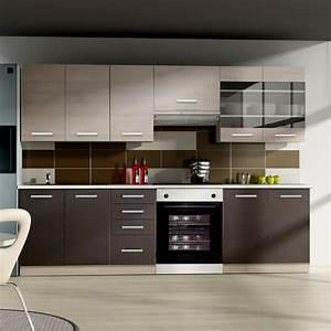 Cuisine Complète Pas Cher : cuisine geneve 260cm 8 l ments cuisine pas cher auchan ~ Melissatoandfro.com Idées de Décoration