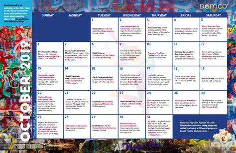 teen library program ideas calendar october