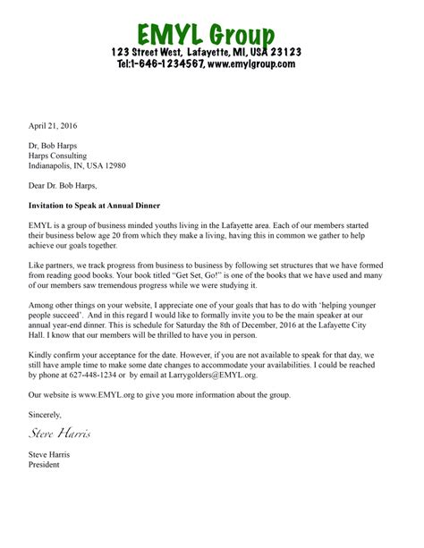 formal invitation letter sample  conference