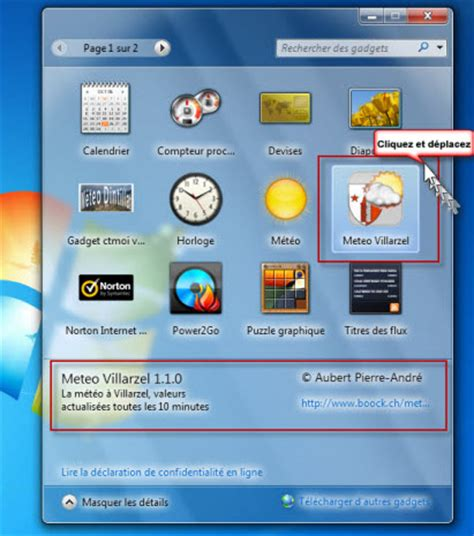 m騁駮 sur bureau windows 7 installer la meteo sur le bureau 28 images comment installer la m 233 t 233 o sur