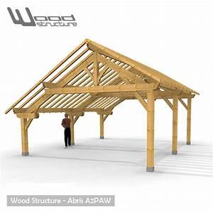 Abris De Terrasse En Kit : abris 2 pans asym trique charpente bois wood structure ~ Dailycaller-alerts.com Idées de Décoration