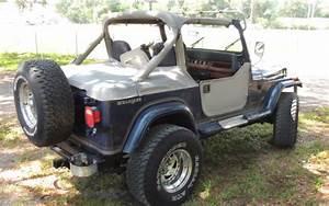 1990 Blue Jeep Wrangler Laredo  4 2l Engine  5