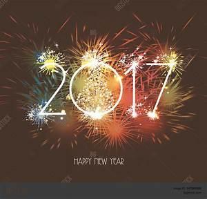 Happy New Year 2017 Fireworks Vector & Photo | Bigstock
