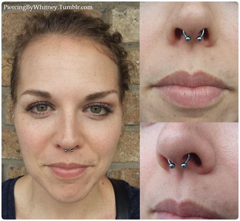 Vanità Piercing Septum Piercing With Titanium Circular Barbell Anodized