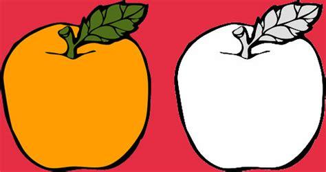 gambar mewarnai buah jeruk