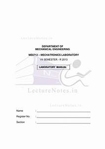 Lab Manuals For Mechatronics