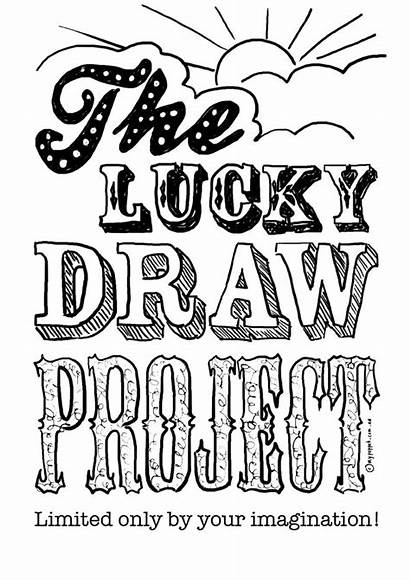 Draw Lucky Project Colouring Pages Printable Coloring