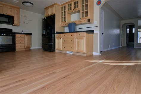 red oak natural stain waterborne finish  flooring