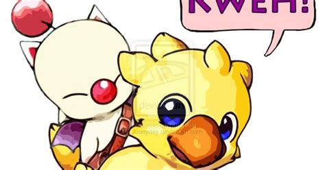 Here are only the best chocobo wallpapers. Chocobo and Moogle by Judeydey: ch- digraph, -oo vowel pattern | Character tat | Pinterest ...