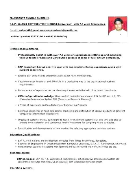 experienced candidate work experience resume sample